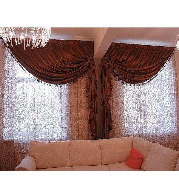 Фото дизайн оформление окон шторами
