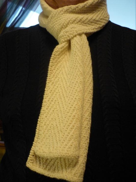 Мужской шарф спицами схема и фото