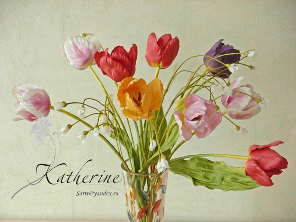 Цветы из шелка фото 136