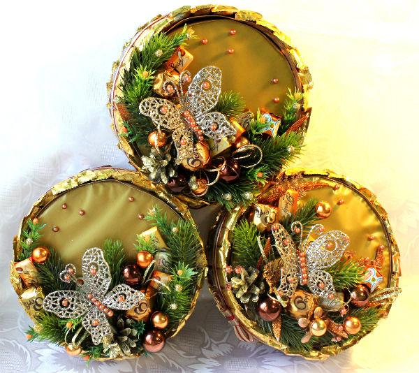 """Gallery.ru / Букет из конфет на коробке печенья""""Мечты сбываются - Новый год - lana2704"""