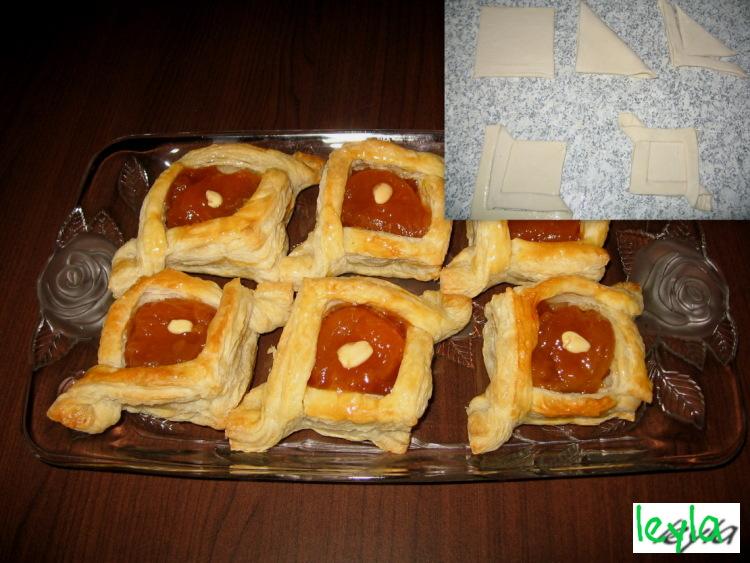 Пирожки из слоеного бездрожжевого теста с вареньем рецепты в духовке