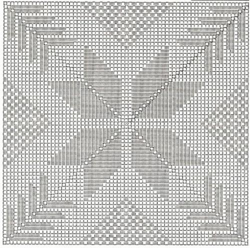 Туника крючок квадраты филейное вязание