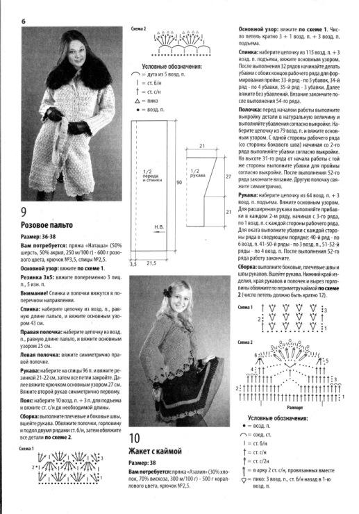 Узоры для вязание пальто 12