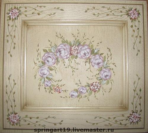 Цветы на мебели своими