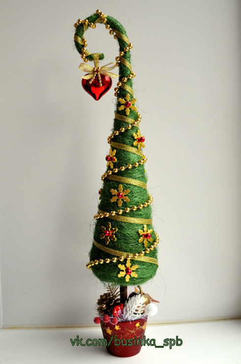 Как сделать топиарий новогодняя елка