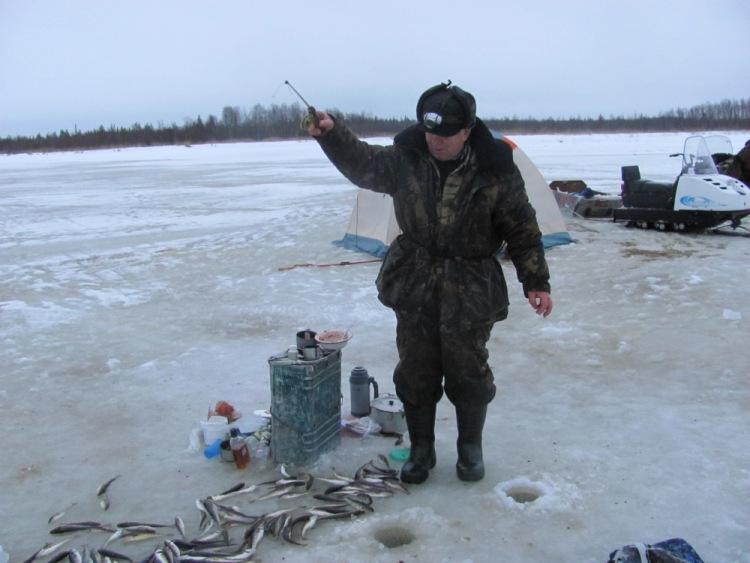 на севере рыбная ловля  во  унее во  луде
