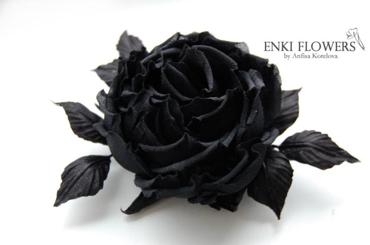 Черная роза своими руками 32