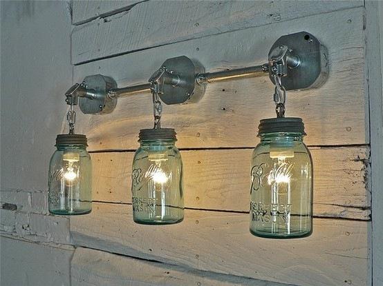 Сделать из банки светильник