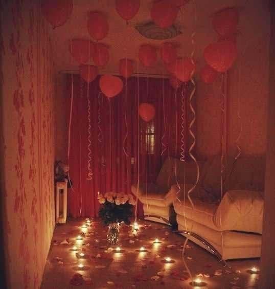 Романтик девушке в домашних условиях