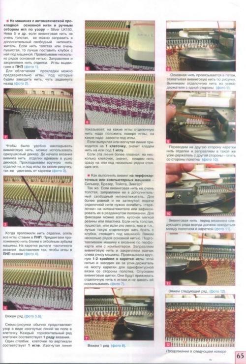 Все о вязание на вязальной машине 31