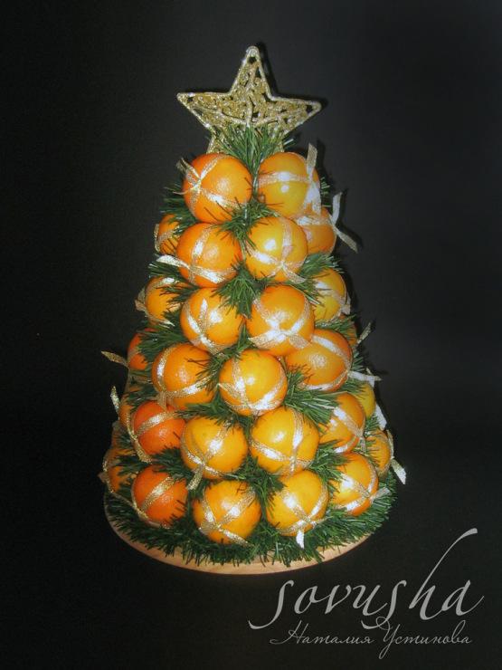 Новогодний мандарин своими руками