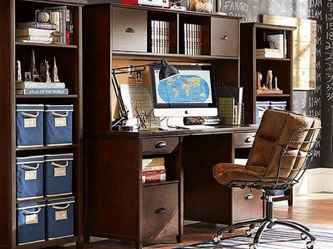 Back to school:practical chatham large storage desk and hutch