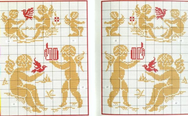 Схемы вышивки крестиком ангелов 73