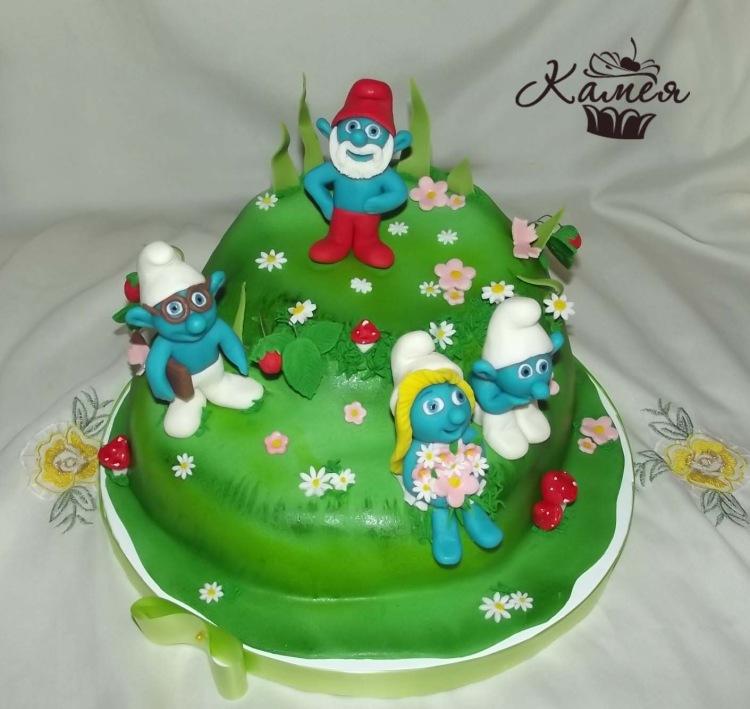 украшение детских тортов фото