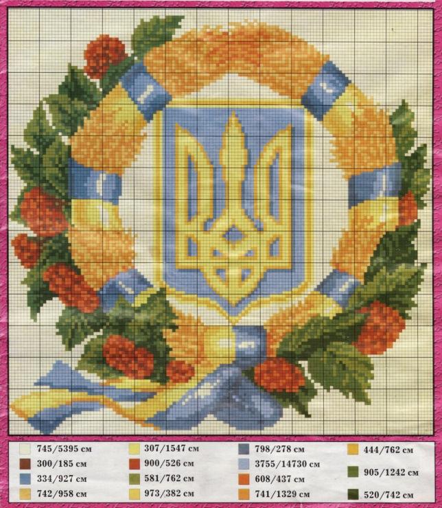 Вышивка схемы на украинскую тематику