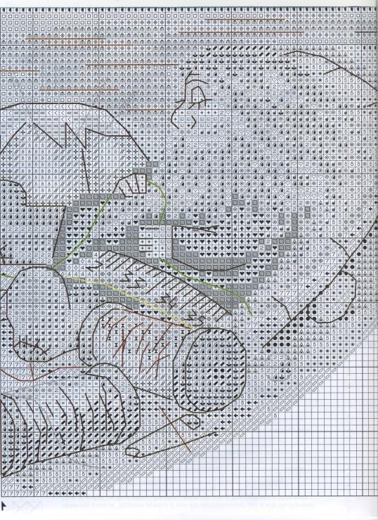 Схема вышивки домовой в семье покой 76