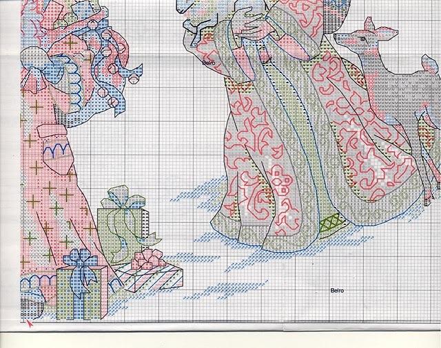 Юбки под елку схемы вышивок