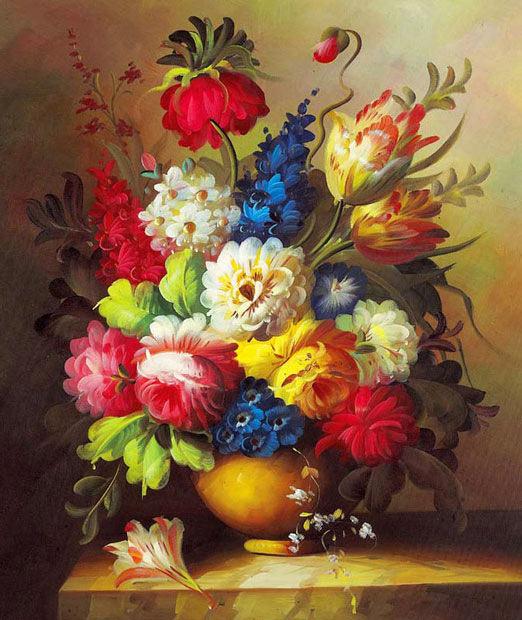 Красивые цветы красками
