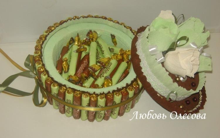 Мастер класс торт шкатулка из конфет