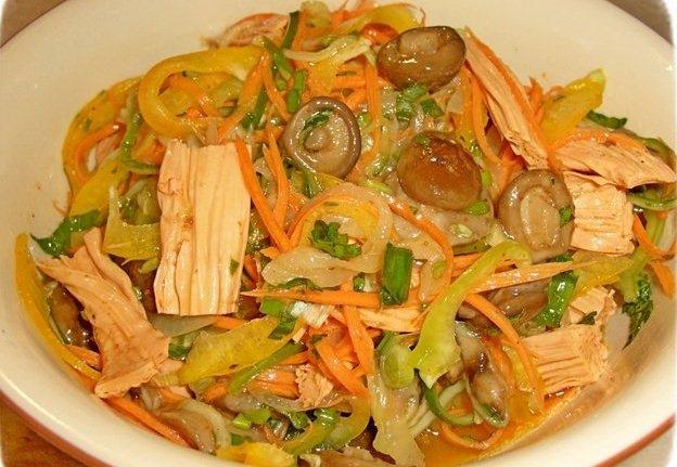 Салат нежность с ветчиной рецепт с фото