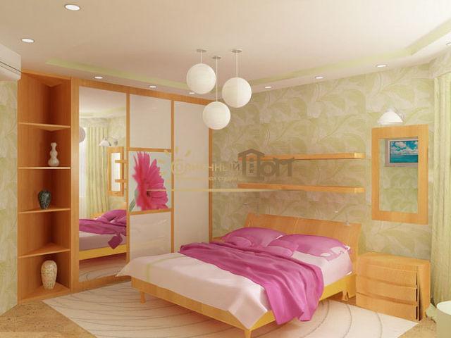 Ремонт спальни дизайн реальные 12 кв