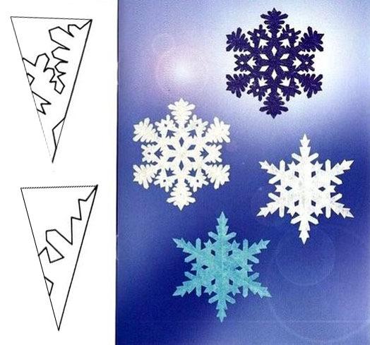 Как сделать деда снежинку из бумаги