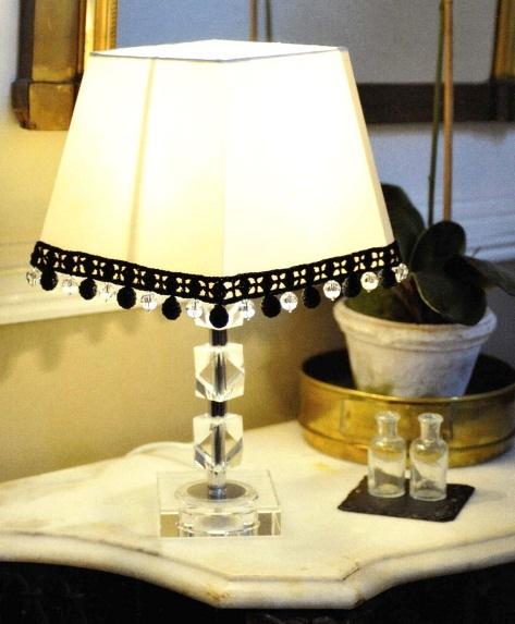 Декор своими руками на настольной лампе