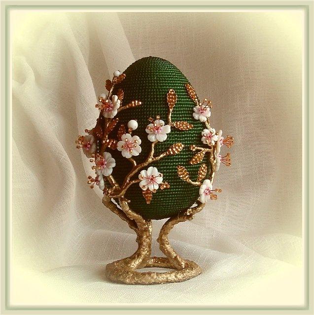 Пасхальное яйцо своими руками из бисера схема