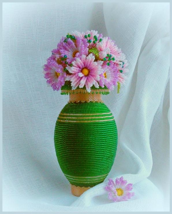 Мастер класс ваза с цветами