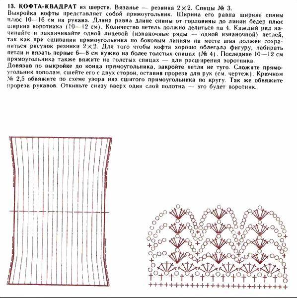 Болеро поперечное вязание