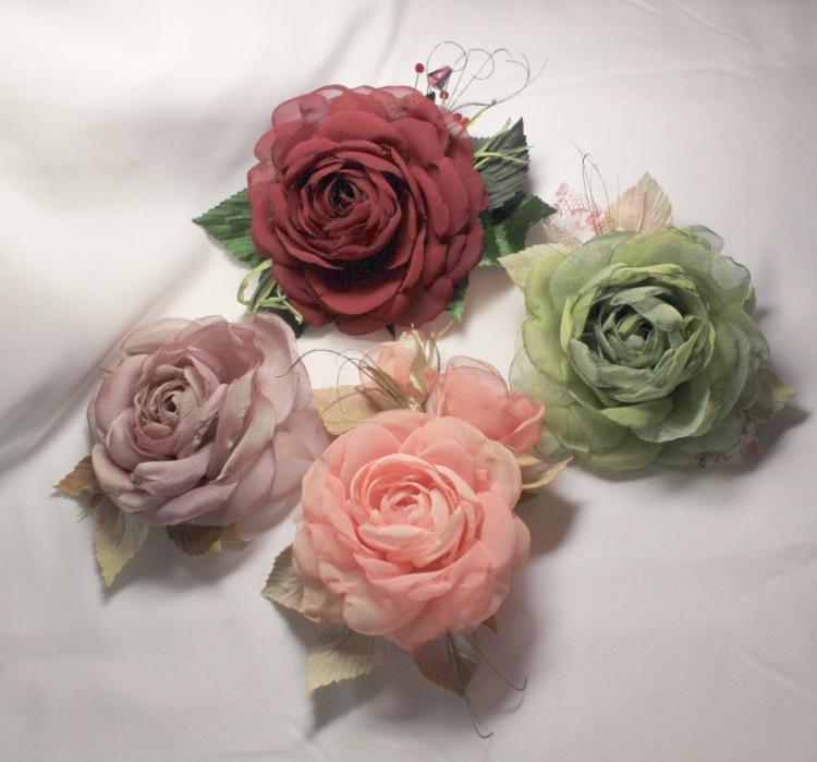 Цветы их шифона своими руками
