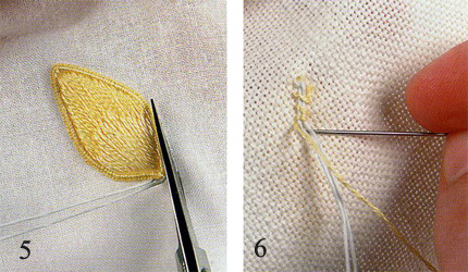 Объемная вышивка пошагово