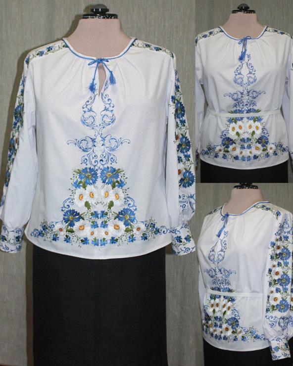 Блузка-туника с вышивкой 15