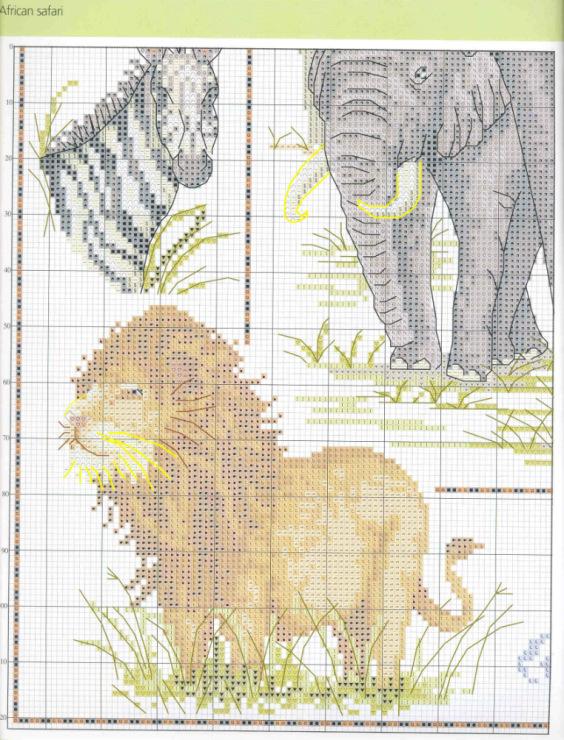 Схема для вышивки король лев