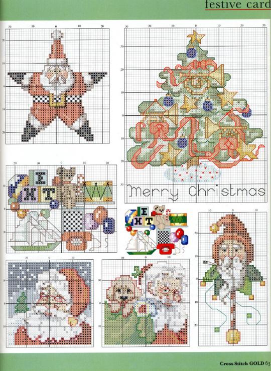 Схемы вышивки для новогодних подарков - Handmade 71