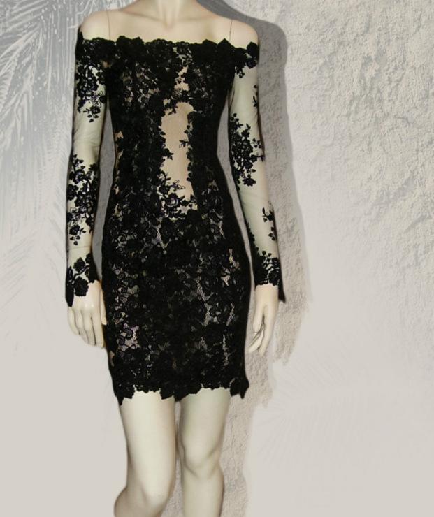Платье из сетки и кружева фото