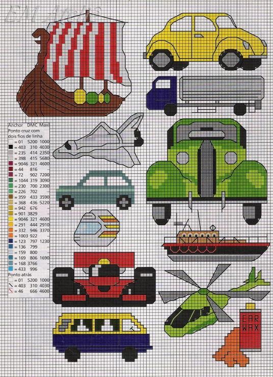 Вышивка для детей машинки 16