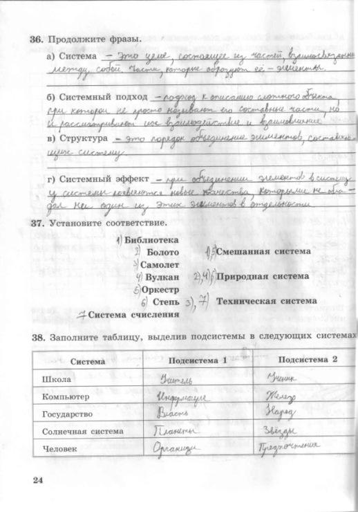 Класс л.босова тетрадь решебники информатики 7 по рабочая