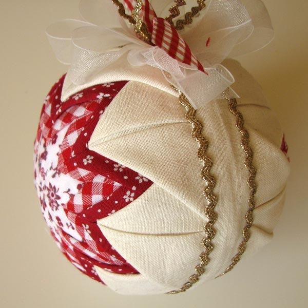Елочные шары из ткани мастер класс