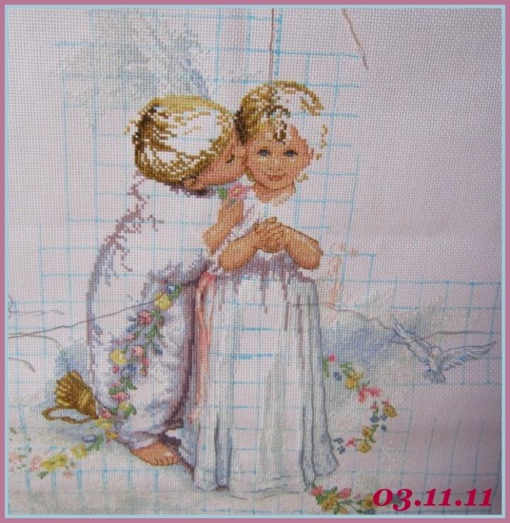 Вышивка крестом ангела dimensions